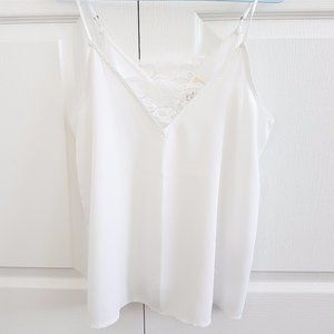 Hollister white cami top